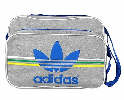 Adidas Airliner Jersey - Shoulder Bag - Medgrey/white/blue - G84889