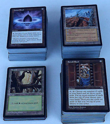Mtg Tempest Complete Set (1-350) NM - LP Wasteland, SCROLL RACK, Intuition