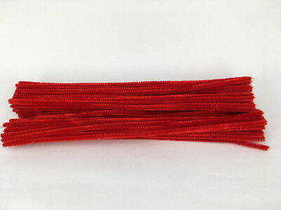 50pcs red Chenille Stems 30cm Craft Pipe Cleaners Craft Stem hand-woven