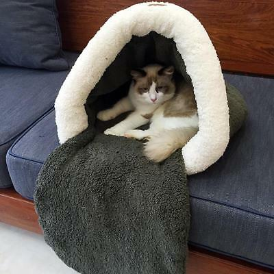 Soft Warm Pet Cat Dog Bed House Plush Soft Cozy Nest Sac de couchage Mat Pad