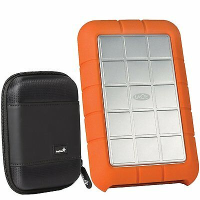 LaCie Rugged Triple USB 3.0 / Firewire 800 2TB HD LAC9000448 and Large HD Case
