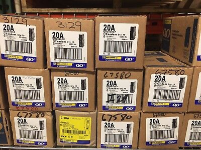 LOT OF 10pcs SQUARE D QO2020 QO2020CP  20A TWIN BREAKER   NEW IN PACKAGE