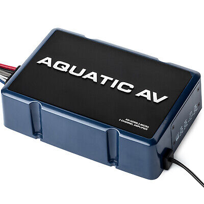 Aquatic AV 300 Watt 2 Channel Amp Amplifier AQ-AD300.2-MICRO for Harley FLH
