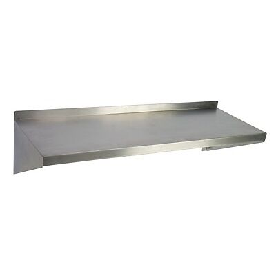 "Stainless Steel Wall Mounted Shelf - 8""W x 48""L x 7.5""D  1 ea"
