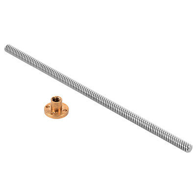 3D Printer Z Axis T8 200mm Stainless Steel Lead Screw + Brass Nut TE497