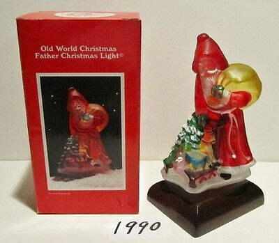 """Old World Christmas 1990 """"Father Christmas Light"""" MINT IN BOX,6th Annual Edition"""