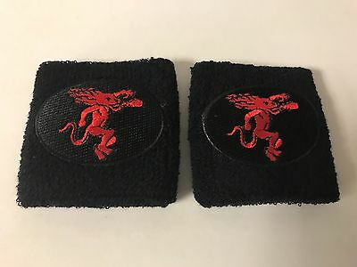 FIREBALL WHISKY Wristbands Embroidered Patch Quality  Set of Two (2) ~ NEW & F/S
