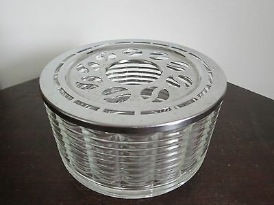 Vintage 50's Retro Silex Candle Warmer Glass Chrome for Coffee Tea Pot Carafe
