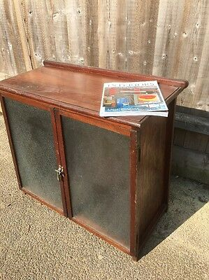 Arts And Crafts Side table / Side Cupboard/ DrInk Cabinet ,Rippled Glazed Fronts