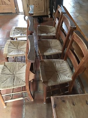 A Set Of Six Chapel Chairs