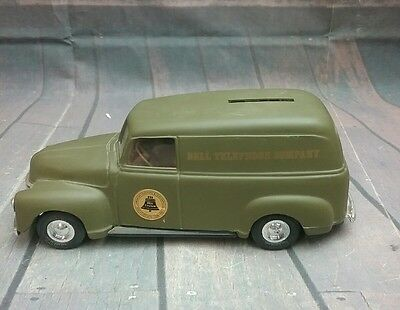 Bell System Telephone ( Coin PIGGY Bank ) VAN / Truck , Metal by THE ERTL CO