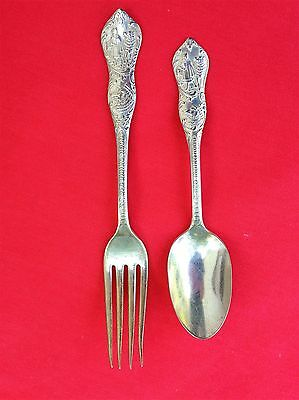 Little Red Riding Hood Collectible Silverplate Spoon and Fork