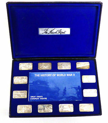 History of WWII Great Events European Theater Sterling Ingot Collection