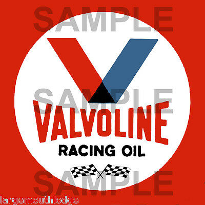 4 Inch Valvoline Racing Vintage Style Decal Sticker