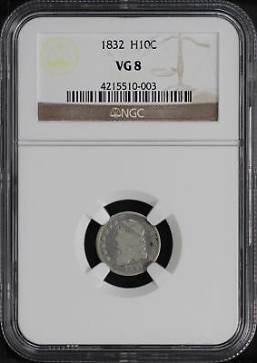 1832 Capped Bust Silver Half Dime NGC VG-8 -141313