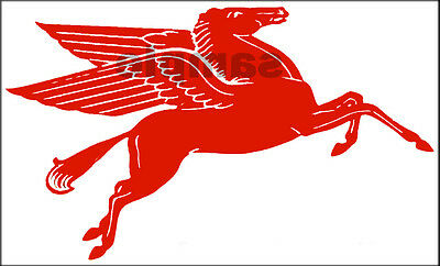 "New Peel And Stick Mobil Gas Oil Decal 5""  Pegasus Horse Right Facing"