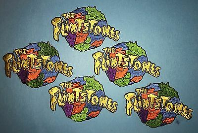 5 Lot The Flintstones Iron On Embroidered Hat Jacket Backpack Patches Crests
