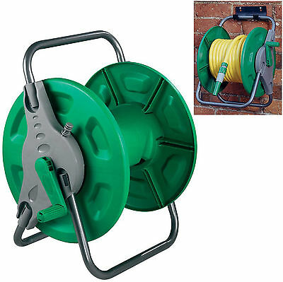 60M Portable Wall Mount Mounted & Free Standing Garden Hose Pipe Reel Cart 144C