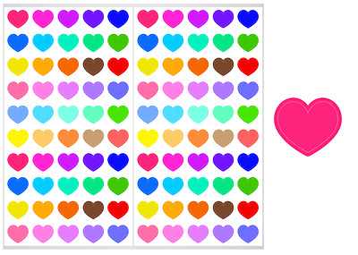 2 Sheet Pack of Heart Planner Stickers, ST#008