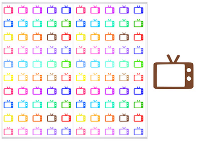 2 Sheet Pack of Television Planner Stickers, ST#010