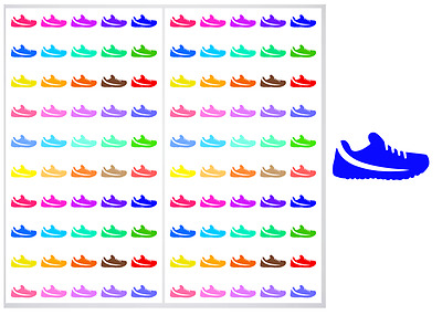 2 Sheet Pack of Running Shoes Planner Stickers, ST#011