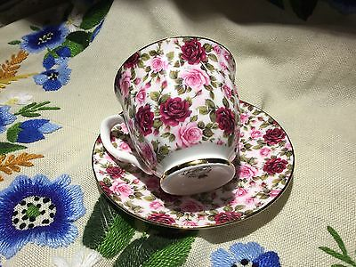 Rare Staffordshire Mayfair Rose Chintz Cup & Saucer