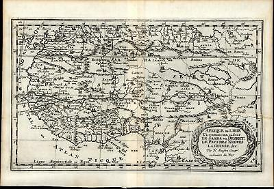 West Africa Guinea Gold Slave Ivory Coast 1699 Sanson rare old map fantasy