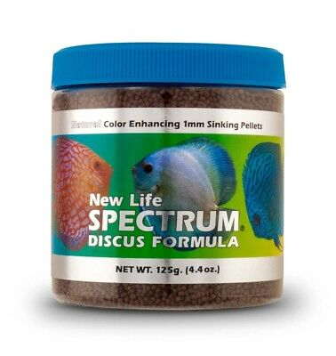New Life Spectrum Discus Formula 1mm Sinking Fish Pellets Color Enhancing 150g