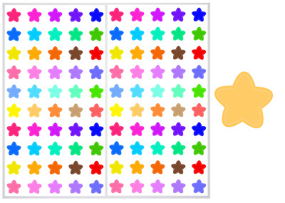 2 Sheet Pack of Star Planner Stickers, ST#018