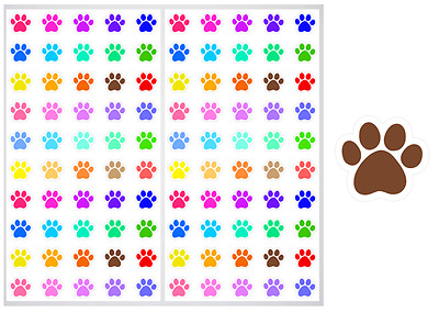 2 Sheet Pack of Paw Prints Planner Stickers, ST#026