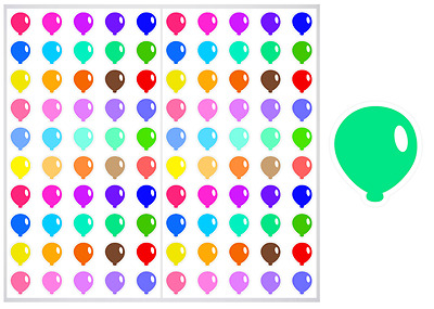 2 Sheet Pack of Balloons Planner Stickers, ST#027