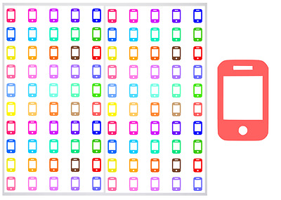 2 Sheet Pack of Cell Phones Planner Stickers, ST#031