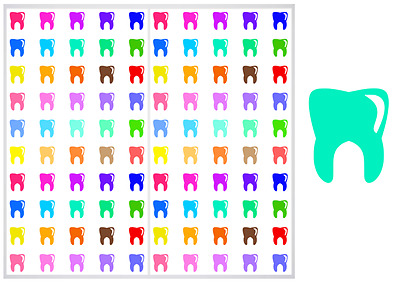 2 Sheet Pack of Teeth Planner Stickers, ST#037