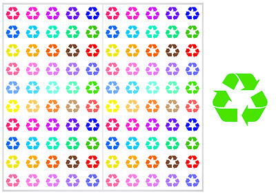 2 Sheet Pack of Recycle Planner Stickers, ST#040