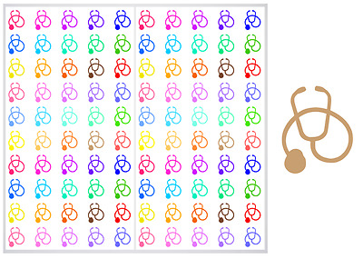 2 Sheet Pack of Stethoscope Planner Stickers, ST#041