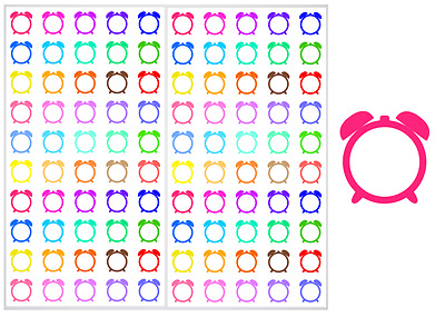 2 Sheet Pack of Clock Planner Stickers, ST#043
