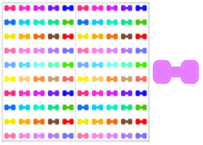 2 Sheet Pack of Dumbells / Weights Planner Stickers, ST#046