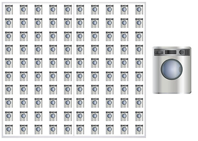 2 Sheet Pack of Stainless Washer / Dryer Planner Stickers, ST#047