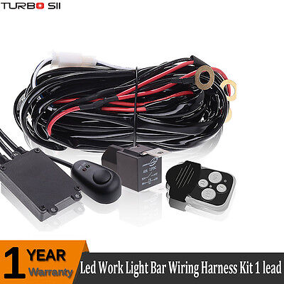 Wiring Harness Kit 12V 40A Fuse Relay Remote Switch For 1 Led Work Light Bar