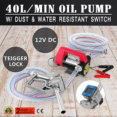 12V DC Bowser Oil Transfer Pump Diesel Electric BioDiesel Fuel Auto Water