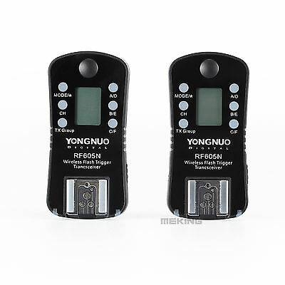 YONGNUO RF605N Flash speedlite Trigger set wireless with LCD for Nikon Camera