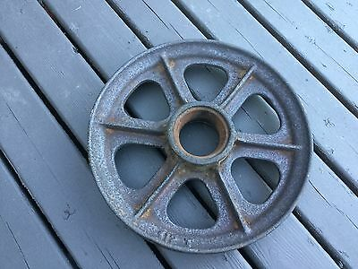 Large Vintage Cast Iron Wheel/Pulley Gear Industrial Wheel 12""