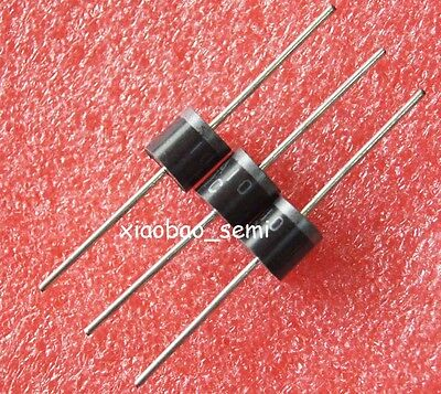 50pcs 10A 10 Amp 1000V 1KV Axial Hot Sale Diodes Rectifier 10A10