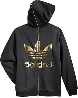 Adidas obyo Jeremy Scott Jacket Back Zip Hoodie Hoody Hooded Jacket Scott BLACK e09d40
