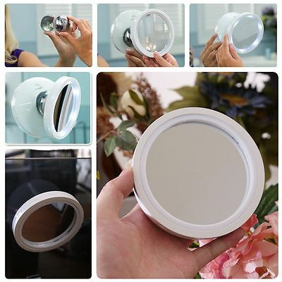 6 Led 8X Magnifying Touch Screen Light Make-Up Cosmetic Suction Vanity Mirror Ca