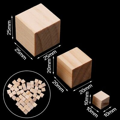 Wooden Square Beads Handmade Woodcrafts Baby Toy Natural Wood Cube Home Decor
