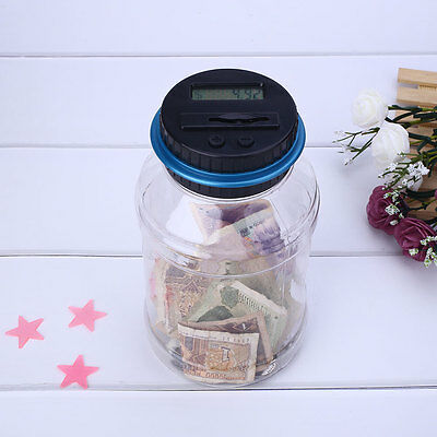 Electronic Money Saving Storage Digital US Dollars Piggy Bank Depository