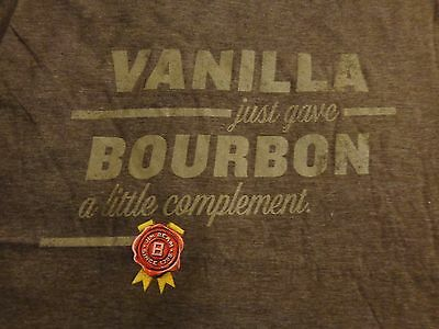 Jim Beam Vanilla Men's T Shirt - Vanilla Bourbon - Heather Brown - Medium....NEW