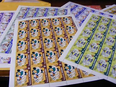 Lot of  25 sets older Disney stamps,..1982 World Cup Spain(6 sheets).