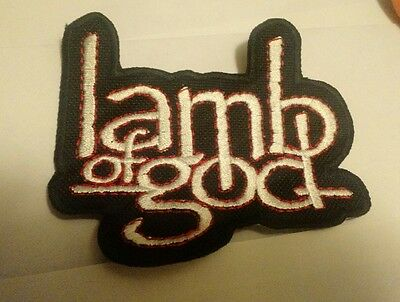 LAMB OF GOD Embroidered Patch IRON/SEW  FREE SHIPPING USA Seller Slayer Behemoth
